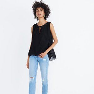 Madewell M black Pleated Tank Top